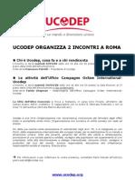 Ucodep organizza due incontri a Roma