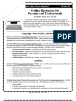 Online Resources for Parents and Professionals