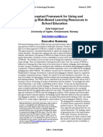 A Conceptual Framework for Using and Evaluating Web-Based Learning Resources