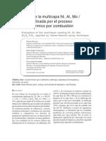 Evaluacion de la multicapa Ni, Al, Mo Proceso de Rociado Termico.pdf