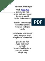Text Lagu Koes Plus