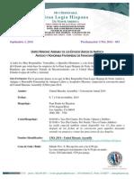 UMA 2014 - 3rd Proclamation - Spanish