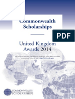 Prospectus Scholarships 2014 Commonwealth Scholarship