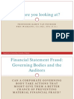 Presentation the Relationship Between Corporate Governance and the Existence of Fraud