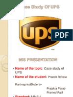 Case Study of UPS