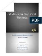 Modules for Statistical Methods