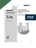 Sharp XL 1200 Stereo User Manual