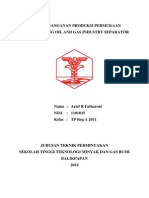 Tugas Penanganan Produksi Permukaan - Paper Tentang Oil and Gas Industry Separator (Arief R Fatharoni 1101035)