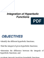 Lesson 8 - Integration of Hyperbolic Functions