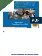 Pengembangan Ekonomi/Produksi Nasional Berbasis Energi Terbarukan dalam Kerangka Negara Maritim