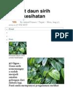 Khasiat daun sirih untuk kesihatan.docx