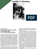 Hamburg, ein Mustergau gegen die Armen, Leistungsschwachen und Gemeinschaftsunfähigen