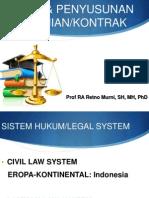 Hukum & Penyusunan Perjanjian kontrak