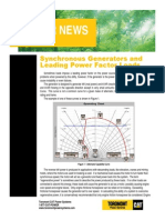 Synchronous Generators and Leading Power Factors