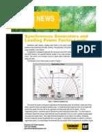 Synchronous Generators and Leading Power Factors