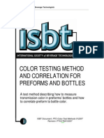Packaging Technology Color Testing of Preforms Test Method Rev 022007