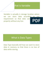 Variable and Data Types