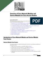 Cisco Network Modules and Service Modules