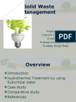 Solid Waste Management Hydrothermal Treatment using Subcritical Water