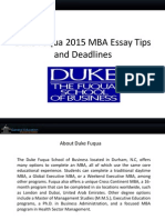 duke fuqua 2015 mba sample essays tips and deadlines