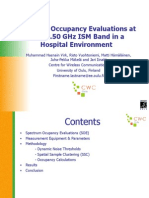Spectrum Occupancy Evaluations at 2.36-2.50 GHz ISM Band in a Hospital Environment