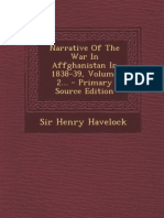 Narrative of the War in Affghanistan 1838-39 Vol 2 (1840) by Havelocks