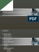 Perception and Error