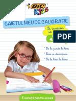CAIET DE CALIGRAFIE