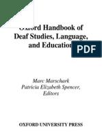 Handbook of Deaf