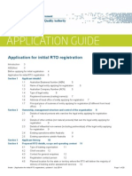 Application Guide - Application for Initial Rto Registration