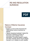 Nature and Regulation of Insurance