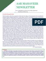[12] AAR Mahaveer Newsletter, October 2013