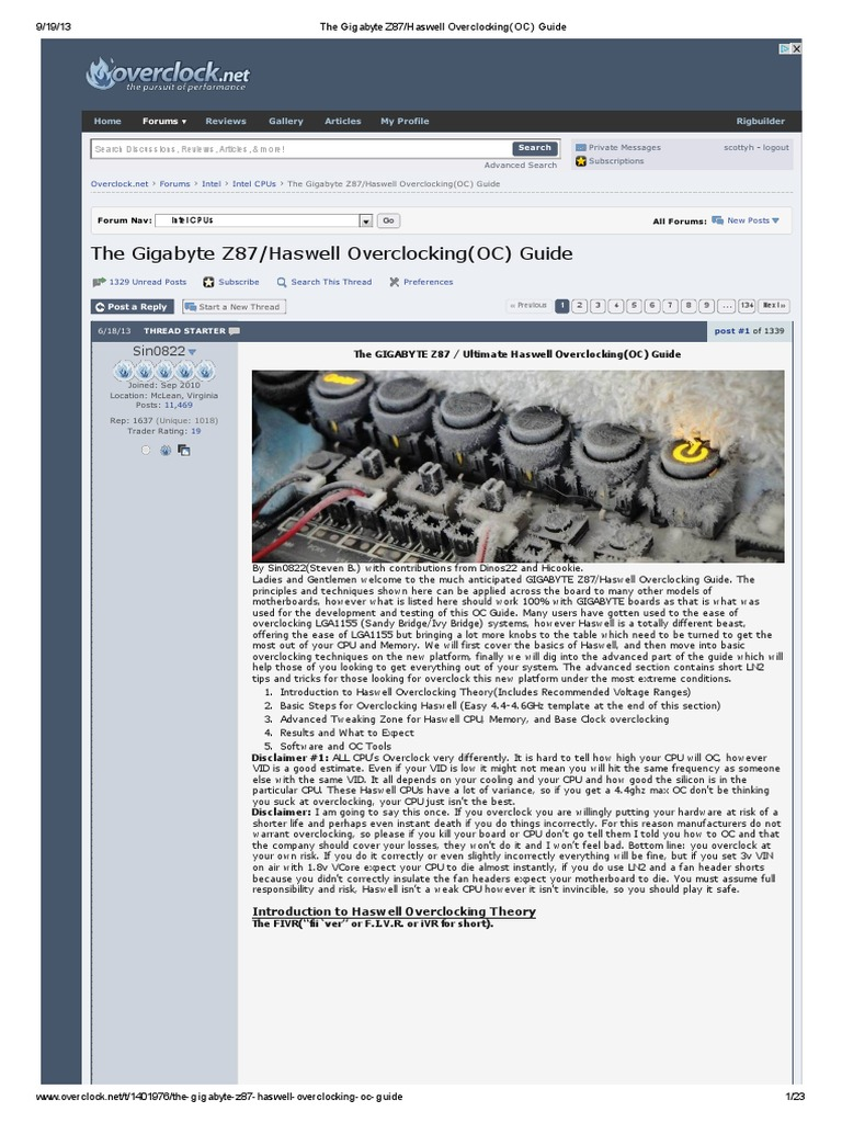 The Gigabyte Z87_Haswell Overclocking(OC) Guide   Central