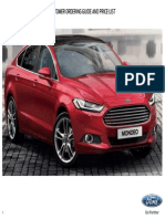 2015 Ford Mondeo Price List