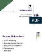 Sinkronisasi dalam Sistem Operasi