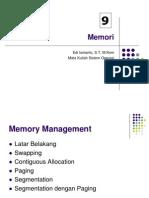 Memory dalam Sistem Operasi