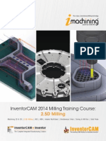 InventorCAM 2014 2.5D Milling Training Course