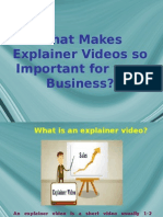 What Makes Explainer Videos so Important for your Business?