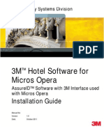 3M Hotel Software for Micros Opera (AssureID) Installation Guide