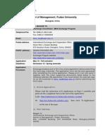 Fudan Info Sheet