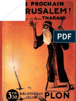 Tharaud-Lan prochain à Jerusalem