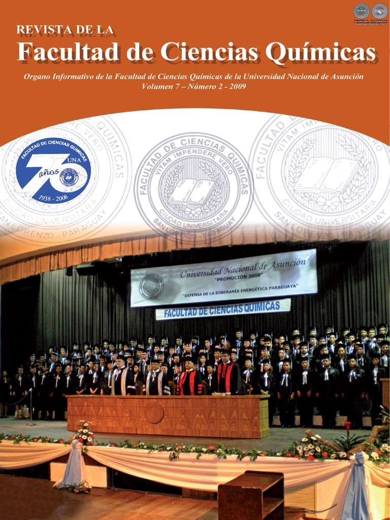Vol 7 Num 2 A O 2009 Revista Fac Ciencias Quimicas Paraguay  # Muebles Narciso Caaguazu