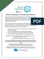 Social Enterprise Hub- Understanding Financial Statements Workshop - 22nd October 2014