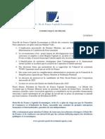 Communiqué Annonces Premier Ministre 13.10.2014