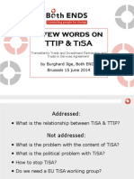 Slides on the Interlinkage between TTIP and TISA negotiations