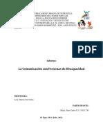 trabajo de lenguaje y Comunicacion Oral y Escrita sobre La Comunicación con personas de Discapacidad.docx