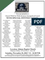 2014 Church WithOut Walls Reunion Invitation