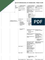 Malla curricular de Tecnologías de la Información y la Comunicación - Primer Grado - CNB.pdf