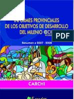 2009 Objetivos Del Milenio Cumplidos en Carchi 2007-2008