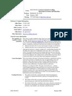 UT Dallas Syllabus for sce5v06.0t1.09u taught by Rebekah Nix (rnix)